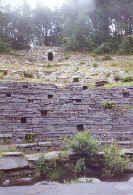 the amphitheatre seating terraces at Glynllifon, seen from the stage
